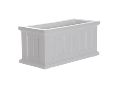 Picture of Cape Cod Patio Planter 24x11 White