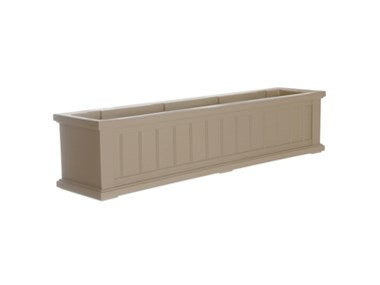 Cape Cod Window Box 4ft Clay Teak Planter
