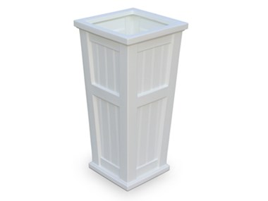 Picture of Cape Cod Tall Planter White