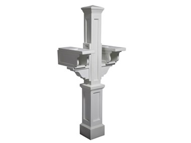 Picture of Rockport Double Mail Post White