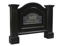 Picture of Nantucket Address Sign in Black