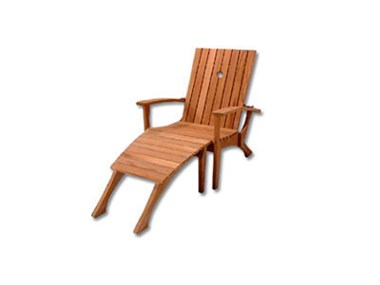 Picture Of Reclining Adirondack Chair With Footrest