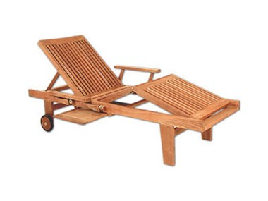 Picture of Classic Chaise Lounge Chair with Arms