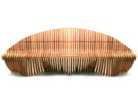 Picture of Double Wing Straight Bench - 78''W x 27''D x 32''H