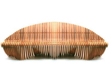 Picture of Double Wing Straight Bench - 97''W x 27''D x 32''H