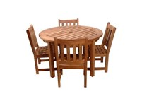 Picture of Classic 5 Piece Round Table Armchair Set