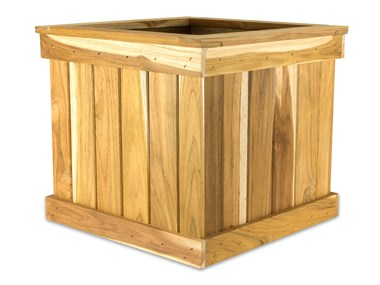 Picture of Teak Tree Planter Box - 16'' Cube