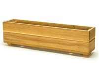 Picture of Teak Herb Planter Box - 4''H x 4''W x 19''L