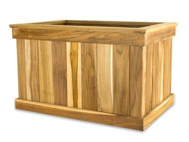 Picture of Teak Tree Planter Box - 20''H x 20''W x 36''L