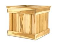 Picture of Teak Tree Planter Box - 12'' Cube